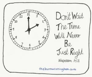 Picture describing process of procrastination